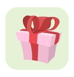 Gift cartoon icon vector