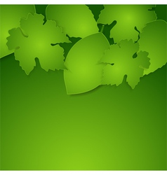 green spring paper leaves background vector image