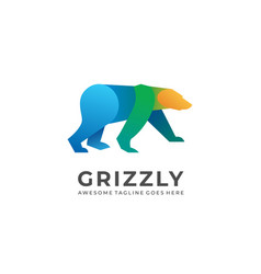 Grizzly template vector