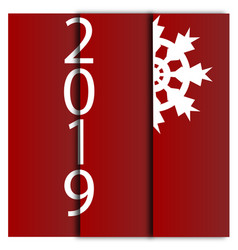 happy new year 2019 decorative card with vector image