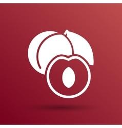 Healthy food logo design concept Fruit and juice vector