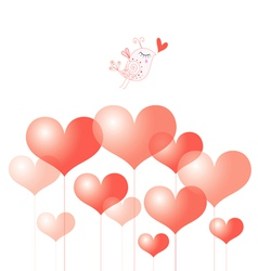 Holiday Heart and bird vector image