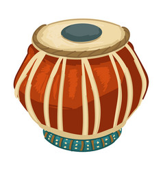 Indian drums old fashioned music instruments vector