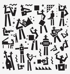 Jazz band logo musicians symbol vector