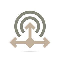 Logo Abstract Icon Circle Square Arrow Design vector image