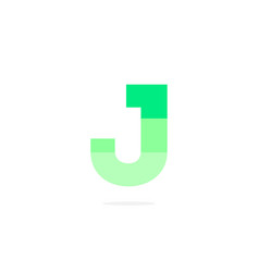 logo letter j green energy battery vector image