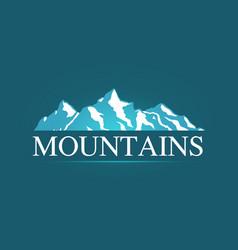 logo of alpine mountains vector image