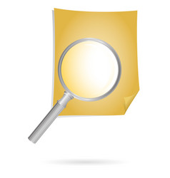 magnification glass and doc vector image