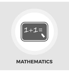 Mathematics icon flat vector