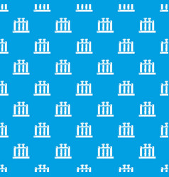 medical test tubes pattern seamless blue vector image