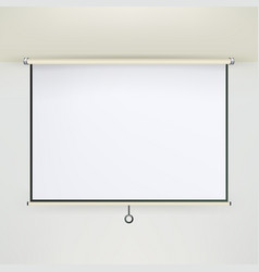 Meeting projector screen empty white board vector