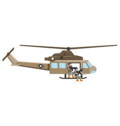 Military helicopter hawk flat render air vector