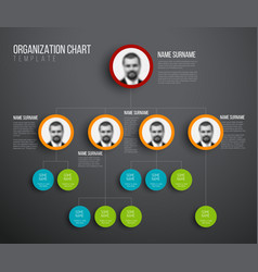 minimalist hierarchy chart with photos vector image