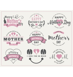 Mothers Day Badges and Labels Design vector