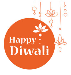 Or greeting card for diwali vector