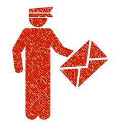 Postman grunge icon vector