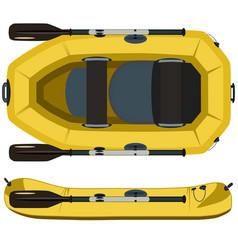 Rafting boat flat vector