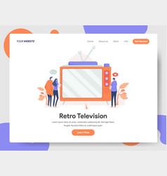 retro television concept vector image