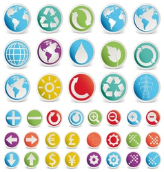 set various forms symbols vector image