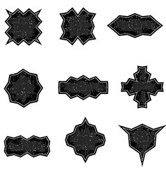 set worn banners in grunge style templates vector image