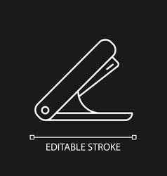 stapler white linear icon for dark theme vector image