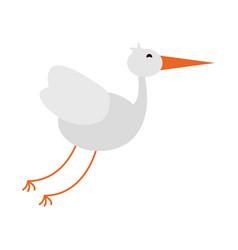 stork bird animal vector image