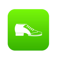 Tango shoe icon digital green vector