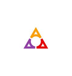 Triangle colored circle company logo vector