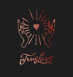 True love web banner esoteric card magic hand vector