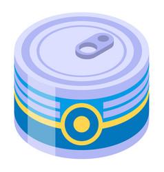 Tuna tin can icon isometric style vector