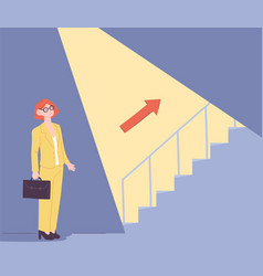uncovering career steps vector image