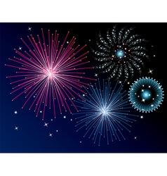vector fireworks background vector image