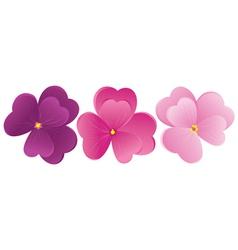 Violet flowers vector