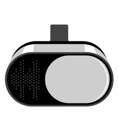 Virtual reality glasses icon vector