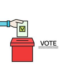 vote line icon vector image