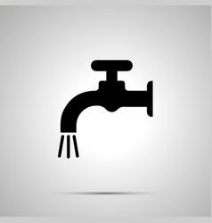 water crane silhouette simple black icon vector image