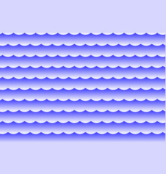 waves - abstract white and blue vector image