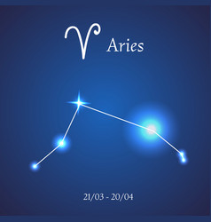 Zodiac constellation aries ram vector