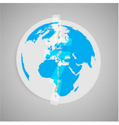 About the earth pollution vector