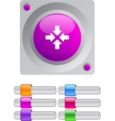 Click here color round button vector image