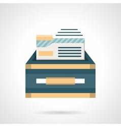 Files box flat color icon vector image