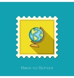 Globe flat stamp vector image