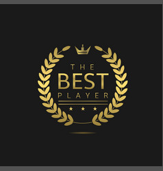 the best player vector image vector image