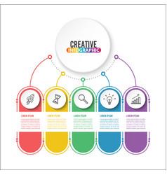 business data visualization process chart vector image