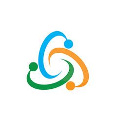 circle colored abstract logo image vector image vector image