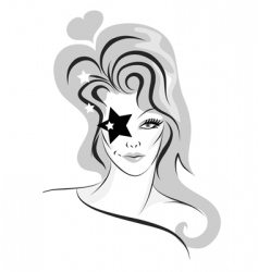 funky woman vector image