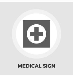 Hospital icon flat vector image vector image