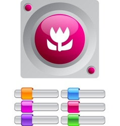 Macro color round button vector image vector image