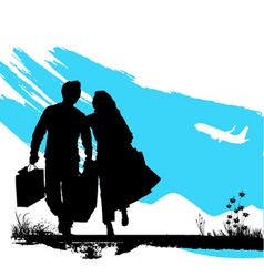 couple wallking vector image vector image