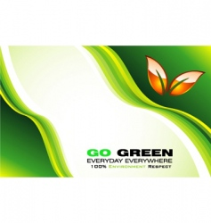 eco card template vector image vector image